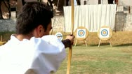 Stock Video Footage of Medieval archer shooting