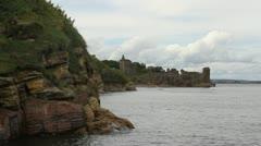 St Andrews castle Fife Scotland Stock Footage