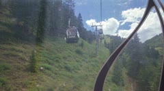 Time lapse riding up Aspen Mountain in the Gondola - wide Stock Footage