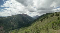 HD 30pw Looking over to Aspen mountain from the top of Buttermilk Mtn time lapse Stock Footage
