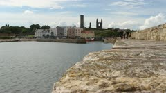 St Andrews harbour Fife Scotland Stock Footage