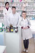 Stock Photo of pharmacy drugstore people team