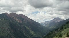 HD 30pt Looking over to Aspen mountain from the top of Buttermilk Mtn time lapse Stock Footage