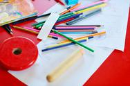 Child education colorful pencil background Stock Photos