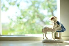 christian house ornament by the window - stock photo