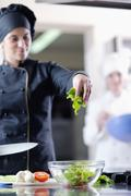 Stock Photo of chef preparing meal