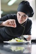 chef preparing meal - stock photo