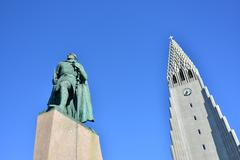 the hallgrímskirkja (literally, the church of hallgrímur) - stock photo