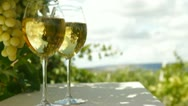 Stock Video Footage of White Grape and Wine Glasses