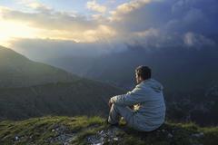 Stock Photo of fresh sunrise at mountain