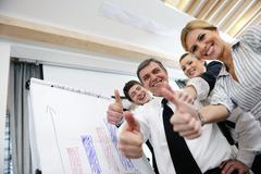 Stock Photo of senior business man giving a presentation