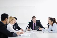 business people group on meeting - stock photo