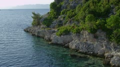 Departure from Island Mljet Stock Footage