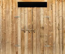wooden doors - stock photo