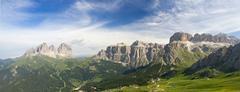 Dolomites panorama Stock Photos