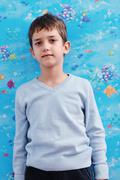portrait of child at home - stock photo