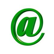 internet mail shape - stock illustration