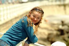 Stock Photo of young girl enjoying nature