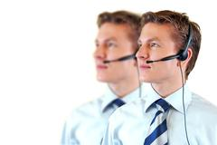 Stock Photo of male customer support service
