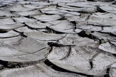 dirty and crack earth - stock photo