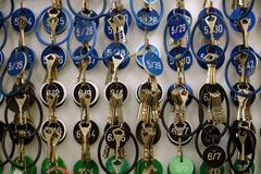 Keys with numbers Stock Photos