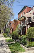 montreal neighbourhood - stock photo