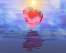 Valentine scene - stock illustration