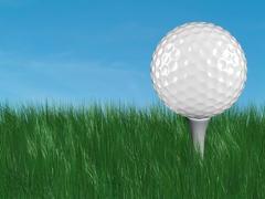 Golf ball - stock illustration