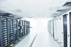 Network server room Stock Photos