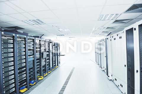 Stock photo of network server room