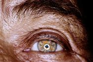 Stock Photo of Wrinkled eye