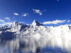 Glacier melting - stock illustration