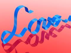 Love ribbon - stock illustration