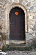 Old castle door Stock Photos