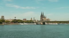 Cologne With Rhine (Germany) Stock Footage