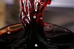 Wine flow Stock Photos