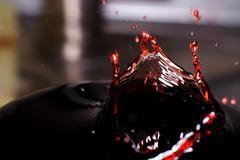 wine splash - stock photo