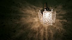 Crystal sconce Stock Footage