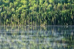 calm lake - stock photo