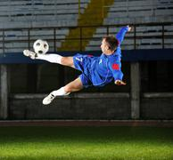 football player in action - stock photo