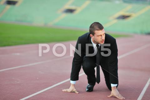 Stock photo of business man in sport