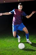 Stock Photo of football player in action