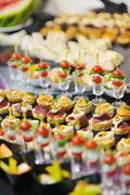 Buffet food closeup Stock Photos