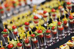 buffet food closeup - stock photo
