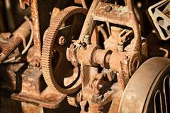 Rusty metal mechanism Stock Photos