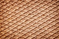 rusty metal deck background - stock photo