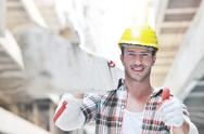 Stock Photo of hard worker on construction site