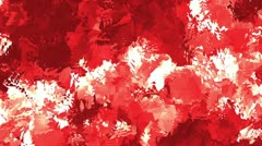Spiky Watercolor Red Stock Footage