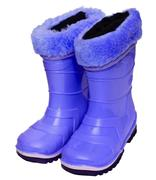 kids rubber boots - stock photo