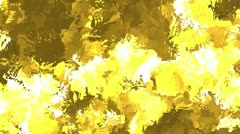 Spiky Watercolor Yellow Stock Footage